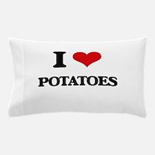 I Love Potatoes Pillow Case
