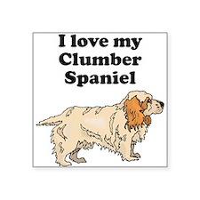 I Love My Clumber Spaniel Sticker