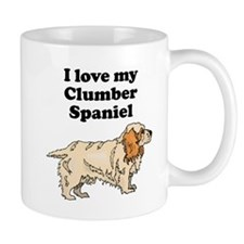 I Love My Clumber Spaniel Mugs