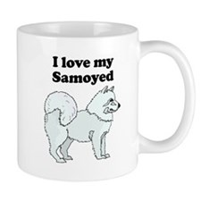 I Love My Samoyed Mugs