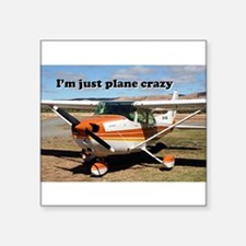I'm just plane crazy: high wing Sticker