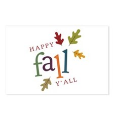 Happy Fall Yall Postcards (Package of 8)
