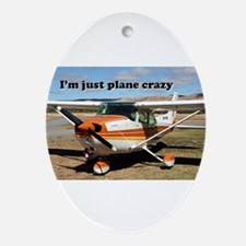 I'm just plane crazy: high wing Ornament (Oval)