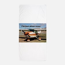 I'm just plane crazy: high wing Beach Towel