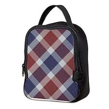 Patriotic Plaid Neoprene Lunch Bag