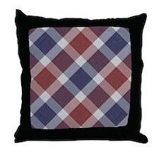 Patriotic Plaid Throw Pillow