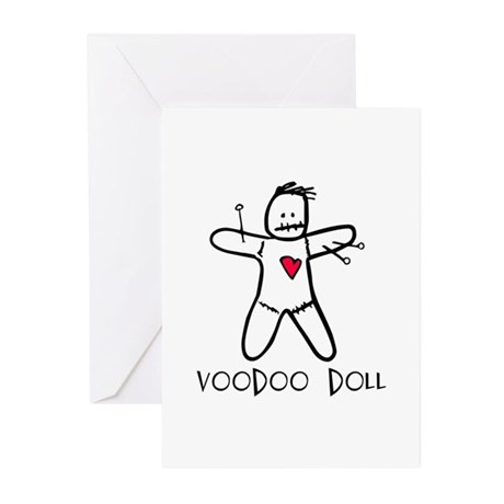 Voodoo Doll Greeting Cards (Pk of 10)