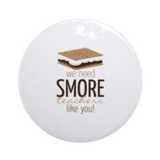SMore Teachers Ornament (Round)