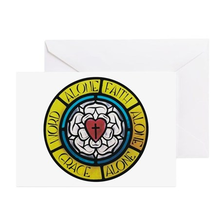 LUTHER ROSE & WORDS-Greeting Cards (Pk of 10)
