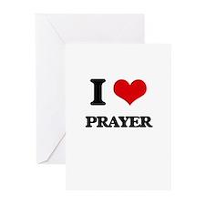 I Love Prayer Greeting Cards