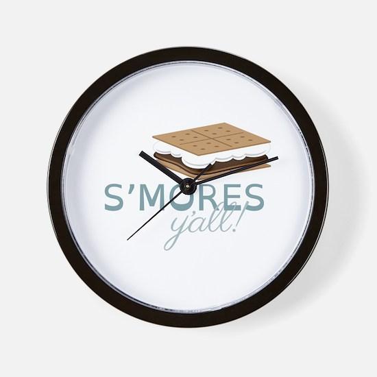 SMores Yall Wall Clock