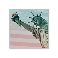 """Statue of Liberty Square Sticker 3"""" x 3"""""""