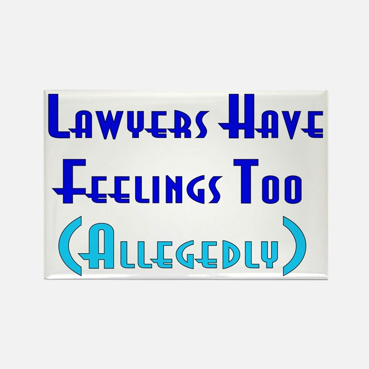 Anti-Lawyer Humor Rectangle Magnet