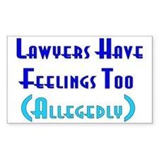 Anti-Lawyer Humor Rectangle Decal