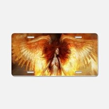 Beautiful Fire Angel Aluminum License Plate
