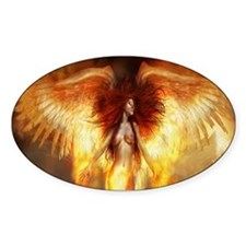 Beautiful Fire Angel Decal
