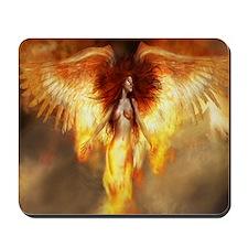 Beautiful Fire Angel Mousepad