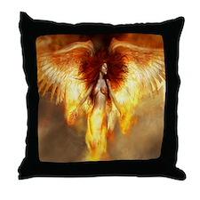 Beautiful Fire Angel Throw Pillow