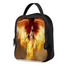 Beautiful Fire Angel Neoprene Lunch Bag