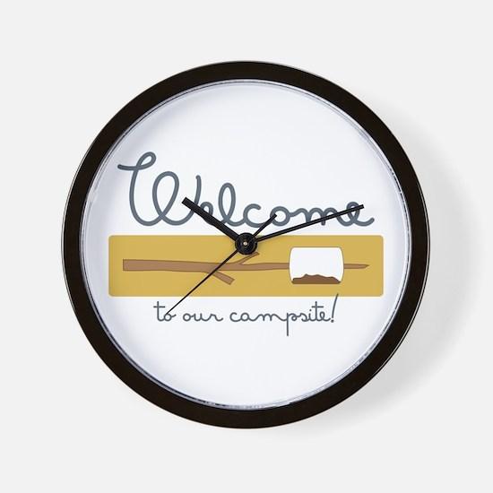 Wecome Marshamallow Wall Clock