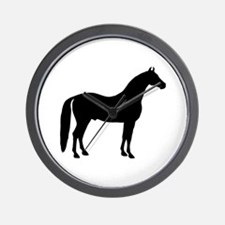 Black Stallion Wall Clock