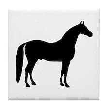 Black Stallion Tile Coaster