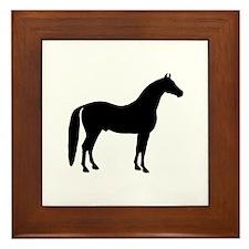 Black Stallion Framed Tile
