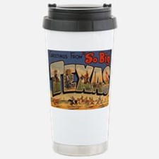 Vintage Texas Stainless Steel Travel Mug