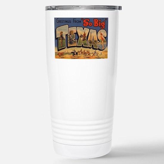 Vintage Texas Stainless Steel Travel Mug