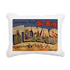 Vintage Texas Rectangular Canvas Pillow