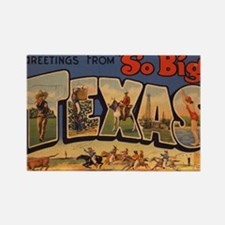 Vintage Texas Rectangle Magnet