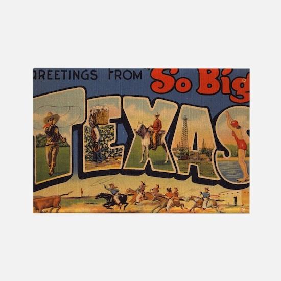 Vintage Texas Rectangle Magnet
