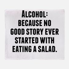 Alcohol Throw Blanket