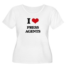 I Love Press Agents Plus Size T-Shirt