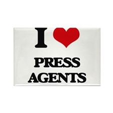 I Love Press Agents Magnets