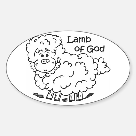 Lamb of God Oval Decal