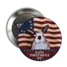 July 4th Rabbit Button