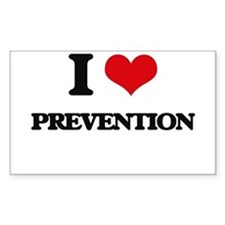 I Love Prevention Decal