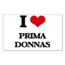 I Love Prima Donnas Decal