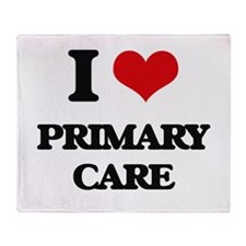 I Love Primary Care Throw Blanket