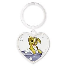 Cute Bath tub Heart Keychain