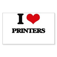 I Love Printers Decal