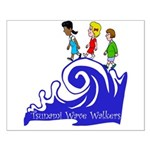 Tsunami Wave Walkers Small Poster