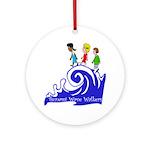 Tsunami Wave Walkers Ornament (Round)
