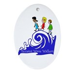 Tsunami Wave Walkers Oval Ornament