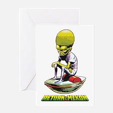 Return of the Mekon scifi vintage Greeting Cards
