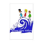 Tsunami Wave Walkers Mini Poster Print