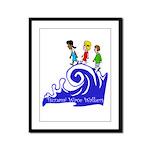 Tsunami Wave Walkers Framed Panel Print
