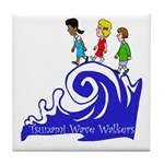 Tsunami Wave Walkers Tile Coaster