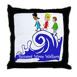Tsunami Wave Walkers Throw Pillow